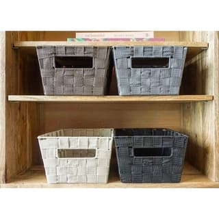 4-Piece Woven Strap Multi Color Basket Set by Handcrafted 4 Home