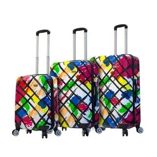 Mia Viaggi ITALY Pop Brush 3-piece Hardside Spinner Luggage Set