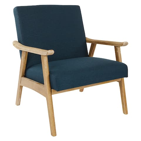 OSP Home Furnishings Weldon Chair with Brushed Finished Frame