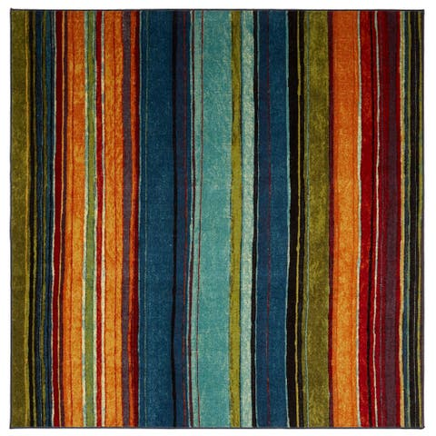 "Mohawk New Wave Rainbow Area Rug - 7'6"" x 7'6"""