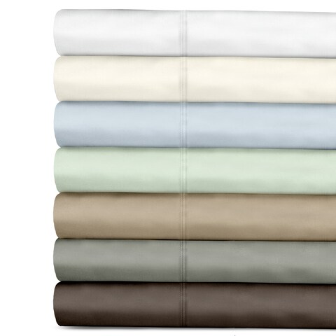 Grand Luxe Egyptian Cotton 500 Thread Count Sateen Solid Sheet Set