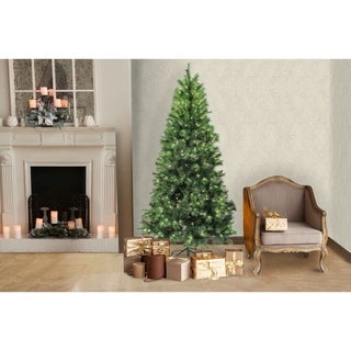 7ft Houston Pine Pre-Lit Clear Christmas Tree