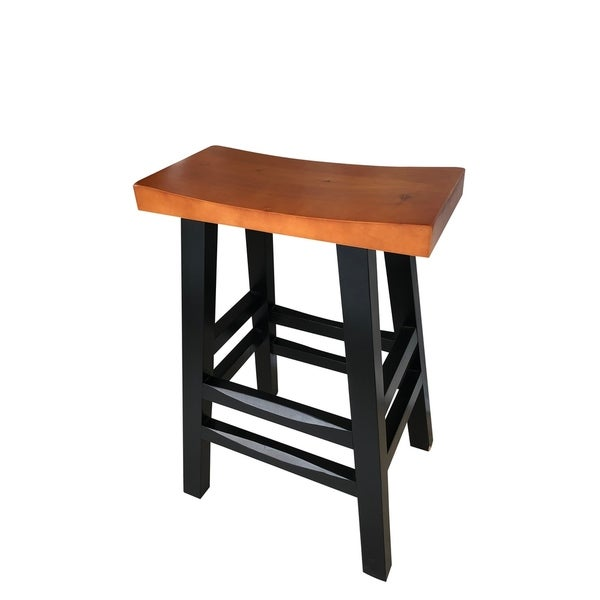 Shop 30 Inch Solid Wood Barton High Bar Chair Free Shipping Today