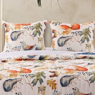 Link to Porch & Den Morilon Forest Wildlife Pillow Sham Set (Set of 2) Similar Items in Curtains & Drapes