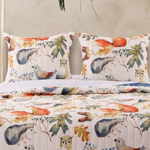Porch & Den Morilon Forest Wildlife Pillow Sham Set (Set of 2)