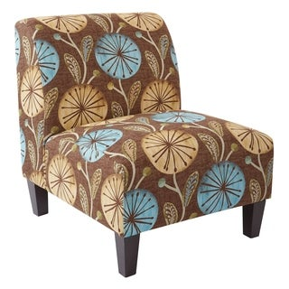 OSP Home Furnishings Mid-Century Magnolia Accent Chair with Solid wood legs