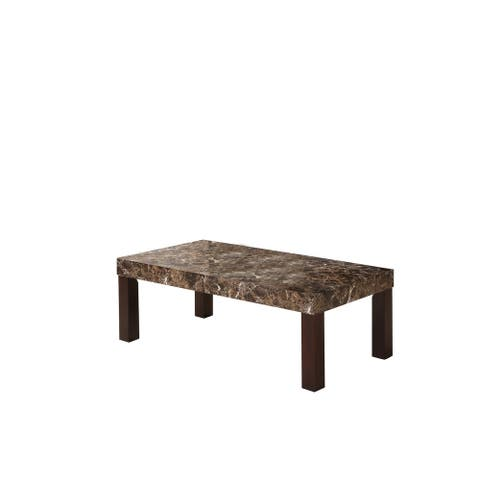17.5 Inch Dark Faux Marbelized Granite Coffee Table