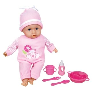 Lissi 13-inch Talking Baby Doll with Feeding Accessories
