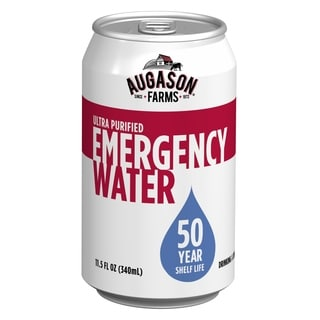 Augason Farms 50 Year Ultra Purified Water Case Pack 24, 11.5oz Cans