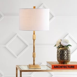 """Windsor 29"""" Metal LED Table Lamp, Gold Leaf by JONATHAN Y"""
