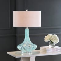 "Montreal 29"" Glass/Acrylic LED Table Lamp, Ice Blue  by JONATHAN  Y"
