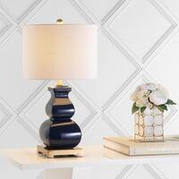 "Vienna 25.5"" Ceramic LED Table Lamp, Navy/Gold by JONATHAN  Y"