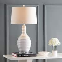 "Dylan 29.5"" Ceramic LED Table Lamp, White by JONATHAN  Y"