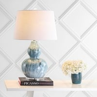 "Stockholm 28.5"" Ceramic LED Table Lamp, Blue Glaze by JONATHAN  Y"