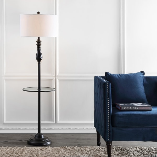Shop Laine 60 Quot Metal Glass Led Side Table And Floor Lamp