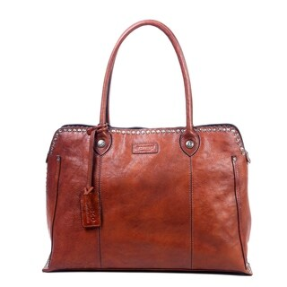 Old Trend Genuine Leather Soul Stud Satchel