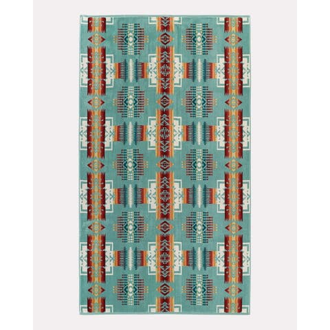 Pendleton Chief Joseph Aqua Oversized Spa Towel