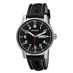 Wenger Men's Swiss Military Commando Day-Date XL Black Watch - Thumbnail 1