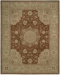Nourison Hand-tufted Heritage Hall Rust Wool Rug (12' x 15') - Thumbnail 2