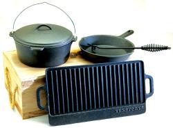 Texsport 5-piece Cast Iron Cookware Kit