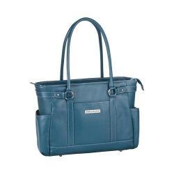 Women's Clark & Mayfield Hawthorne Leather Laptop Handbag 17.3in Deep Teal