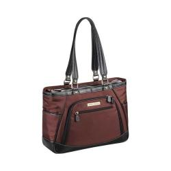 Women's Clark & Mayfield Sellwood Metro Laptop Handbag 15.6in Bordeaux Brown