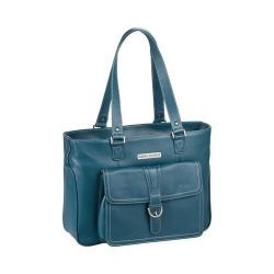 Women's Clark & Mayfield Stafford Pro Leather Laptop Tote 15.6in Deep Teal