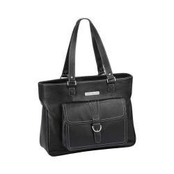 Women's Clark & Mayfield Stafford Pro Leather Laptop Tote 17.3in Black