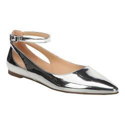 Women's Franco Sarto Sylvia Ballet Flat Silver Liquid Metallic Polyurethane
