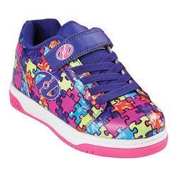 Children's Heelys Dual Up X2 Purple/Neon Multi/Puzzle