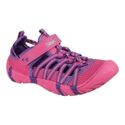 Girls' Skechers Summer Steps Summer Sandal Hot Pink/Purple