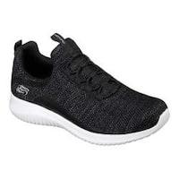 Women's Skechers Ultra Flex Capsule Bungee Lace Sneaker Black/White