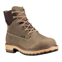 Women's Timberland PRO 6in Hightower Alloy Toe Waterproof Boot Turkish Coffee Full Grain Leather