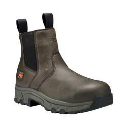 Men's Timberland PRO 6in Linden Alloy Safety Toe Chelsea Boot Brown Raptek Microfiber