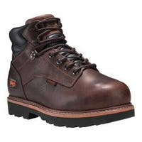 Men's Timberland PRO Ascender 6in Met Guard Alloy Toe Work Boot Brown Full Grain Leather