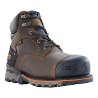 Men's Timberland PRO Boondock 6in Waterproof Composite Safety Toe Boot Brown Oiled Distressed Leather