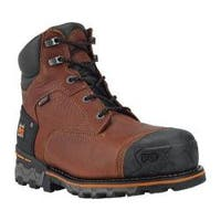 Men's Timberland PRO Boondock 6in WP Insulated Composite Toe Boot Brown Tumbled Leather