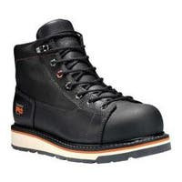 Men's Timberland PRO Gridworks 6in Alloy Toe Work Boot Black Full Grain Leather