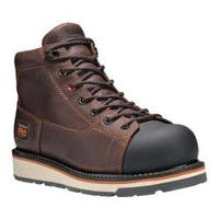 Men's Timberland PRO Gridworks 6in Alloy Toe Work Boot Red/Brown Full Grain Leather