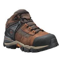 Men's Timberland PRO Hyperion 4in XL Alloy Toe Waterproof Boot Brown Distressed Leather/Fabric