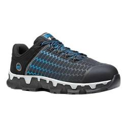 Men's Timberland PRO Powertrain Sport Alloy Toe EH Work Shoe Black/Blue Ripstop Nylon