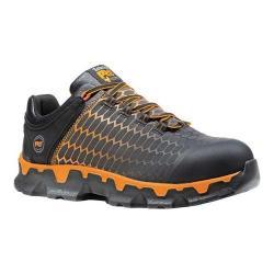 Men's Timberland PRO Powertrain Sport Alloy Toe EH Work Shoe Black/Orange Ripstop Nylon