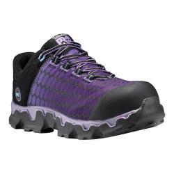 Women's Timberland PRO Powertrain Sport Alloy Toe SD Plus Work Shoe Black Ripstop Nylon/Lavender