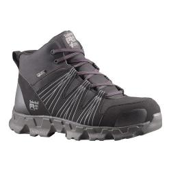 Men's Timberland PRO Powertrain Mid Alloy Safety Toe ESD Black Synthetic