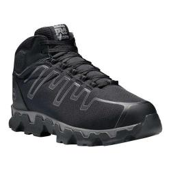 Men's Timberland PRO Powertrain Mid Alloy Toe EH Work Shoe Black/Grey Ripstop Nylon