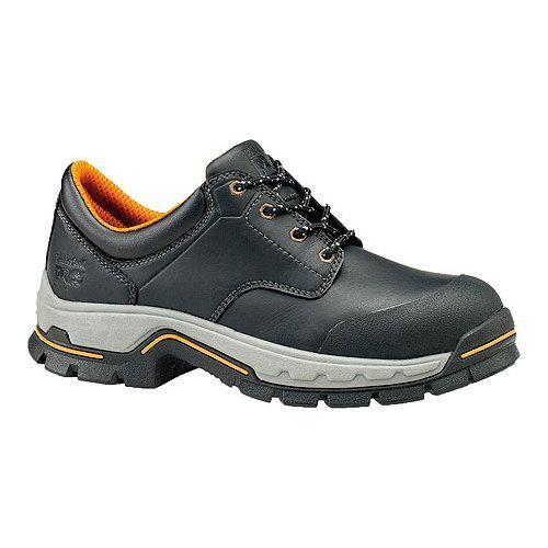 9907a661d9c Men's Timberland PRO Stockdale GripMax Alloy Safety Toe Oxford Black Full  Grain Leather