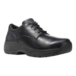 Timberland PRO Valor Oxford Soft Toe Work Shoe Black Smooth Full Grain Leather