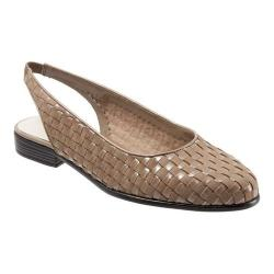 Women's Trotters Lucy Woven Slingback Nude Nubuck/Patent Nubuck Leather