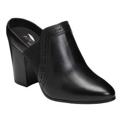 Women's Aerosoles Pocket Square Mule Black Burnished Leather (More options available)