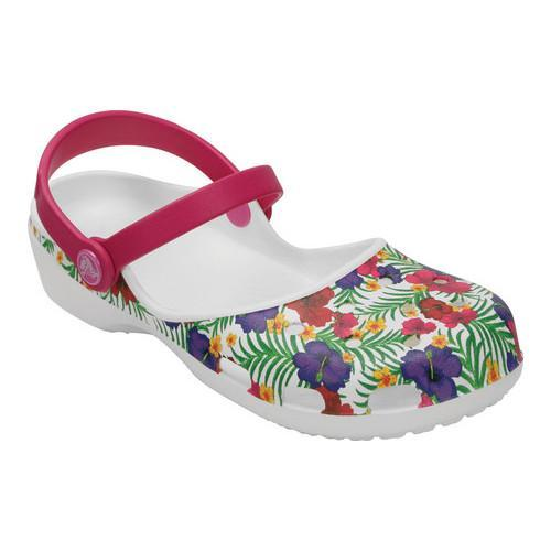 Shop Women s Crocs Karin Graphic Clog White Floral - Free Shipping On  Orders Over  45 - Overstock - 19483484 8bbc143a28